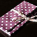 10. toile enduite violette et doublure rose chouettes