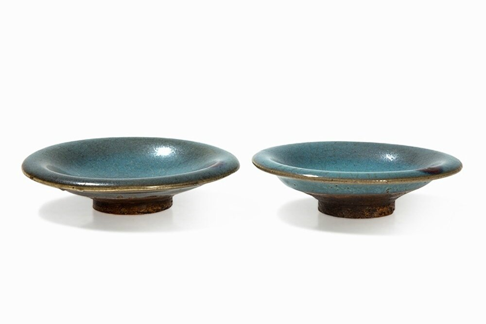 Pair of Rare Purple-Splashed Jun Dishes, Northern Song dynasty (960-1127