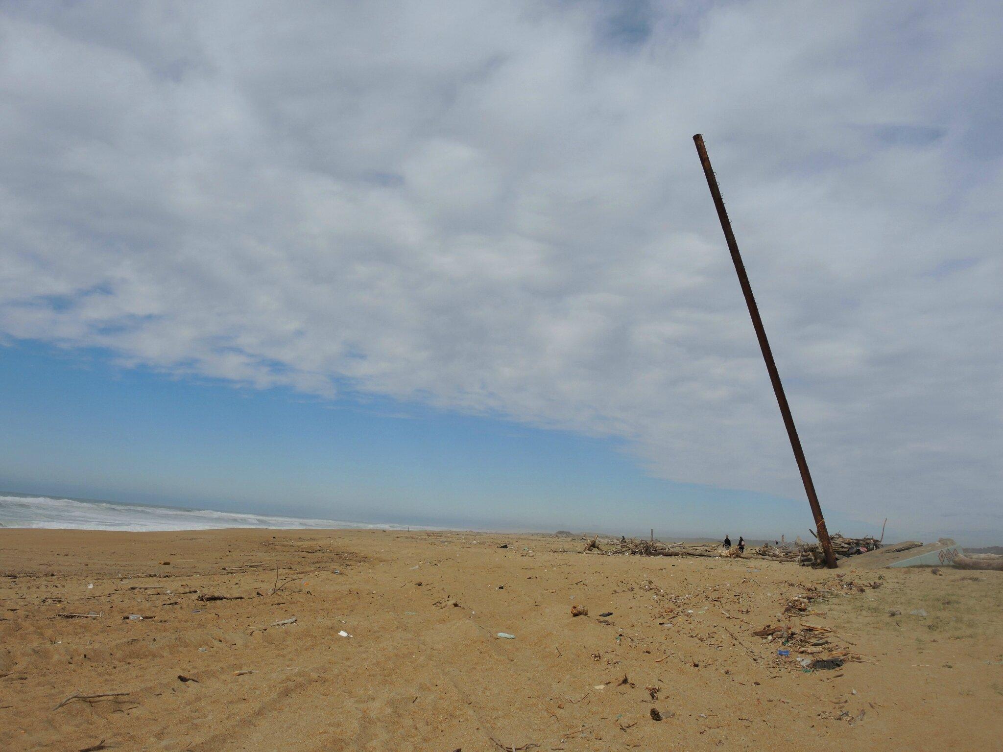Tarnos, plage et mat en ferraille (40)