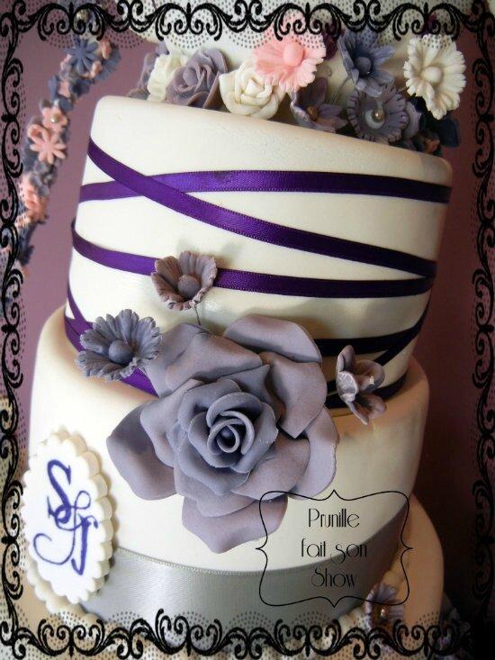 gateau de mariage theiere et fleurs prunille fait son show 8