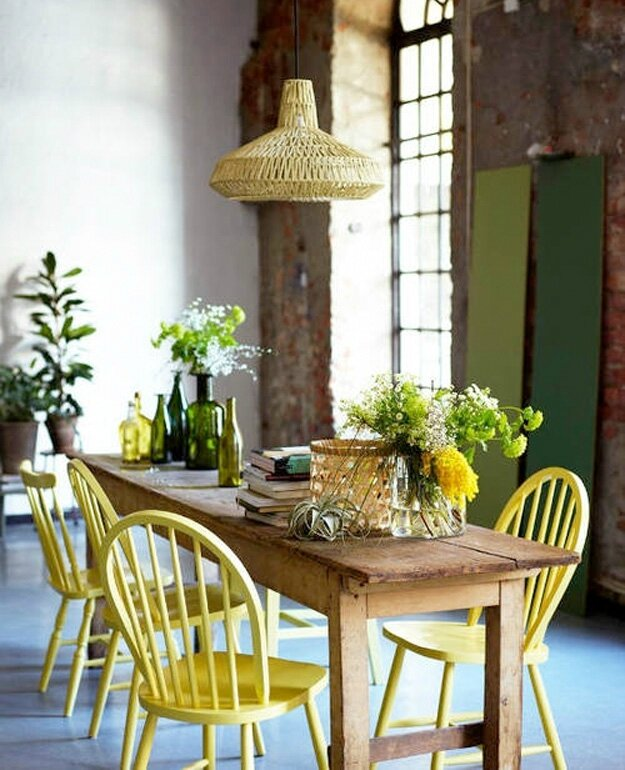 jaune-table-décoration
