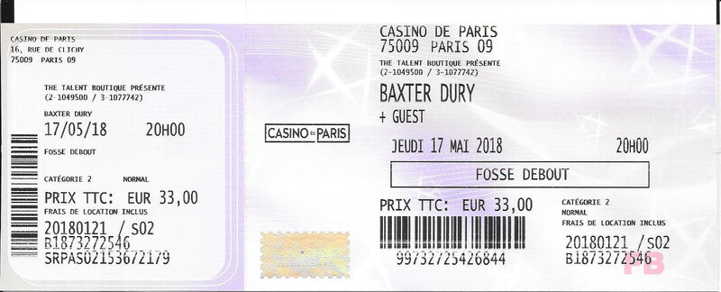 2018 05 17 Baxter Dury Casino de Paris