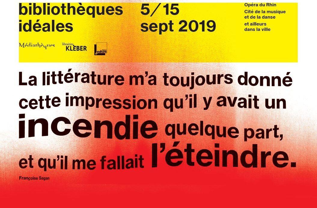 """Festival """"Les bibliothèques idéales"""" à Strasbourg , du 05 au 15 septembre 2019"""