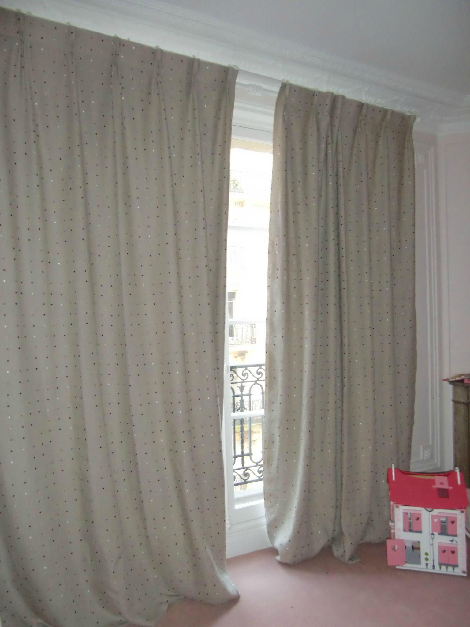 doubles rideaux en lin avec plis flamands - Photo de Les rideaux ...