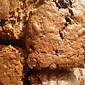 Brownie chocolat, rhum-raisins