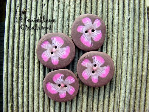 boutons marrons