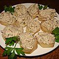Rillettes de maquereaux fromage frais, capres et romarin