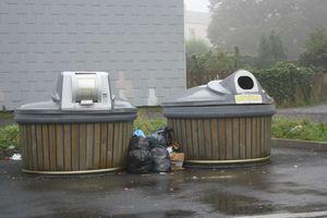 Avranches rue Pierre de Coubertin ordure poubelles déchets C3A