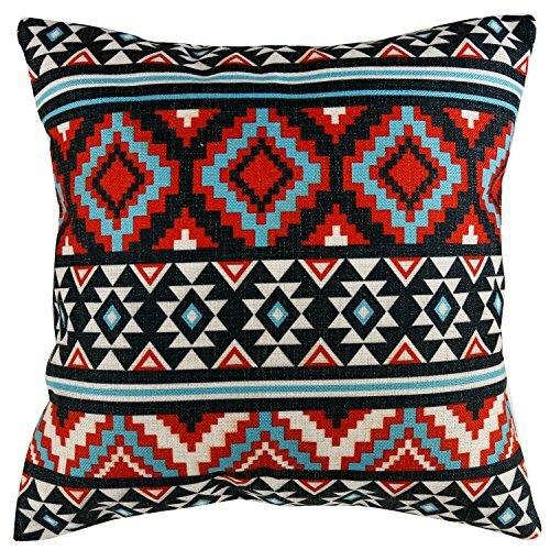 sterxy-ethnique-Housse-de-coussin-en-cotonlin-gomtrique-Patterns-457-x-457-cm-motif-1-multicolore-0