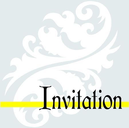 Invitation jaune