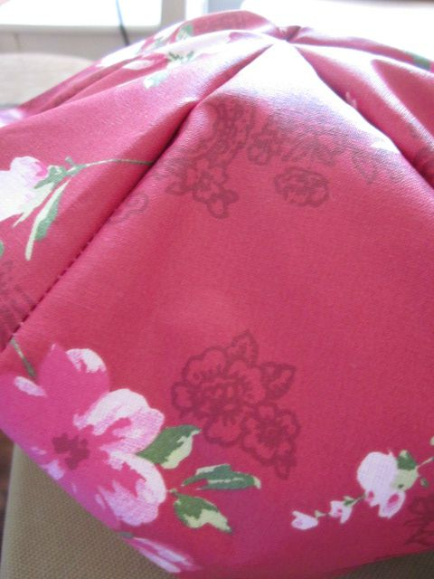 Chapeau de pluie framboise à fleurs (2)