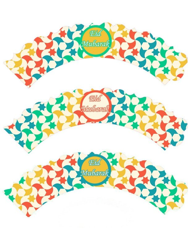 cupcake wrappers étoiles