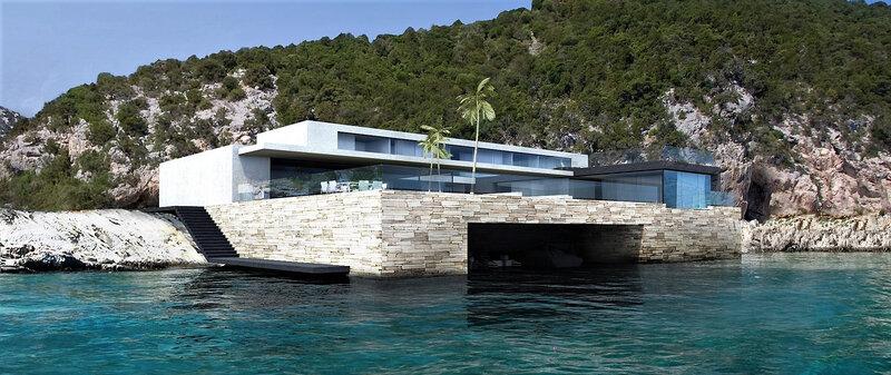 villa contemporaine avec vue mer à Cannes - architecte cannes