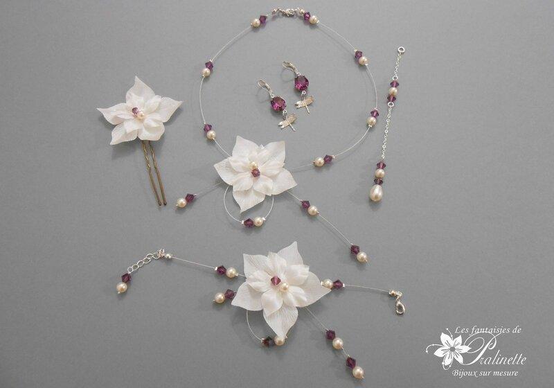 bijoux-mariage-parure-fleurs-en-soie-personnalisee-violet-amethyste