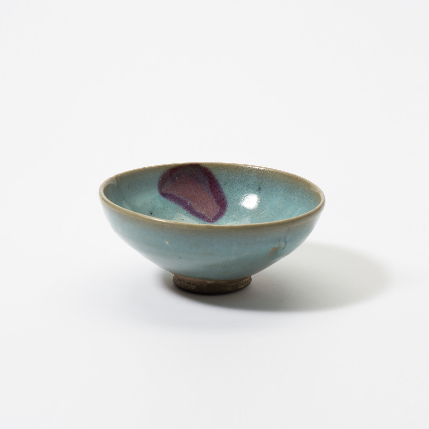 A Chinese Junyao purple-splashed bowl, Yuan dynasty (1271-1368)