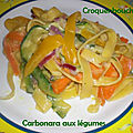 Carbonara aux legumes