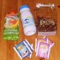 Infusions (en vrac et en sachets), jus de fruits, lait