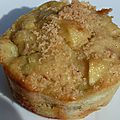 Muffins pomme - rhubarbe