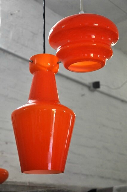 suspension verre orange