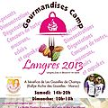 Gourmandises camp langres 2013