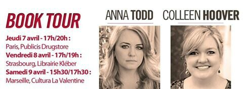 dédicace anna todd colleen hoover