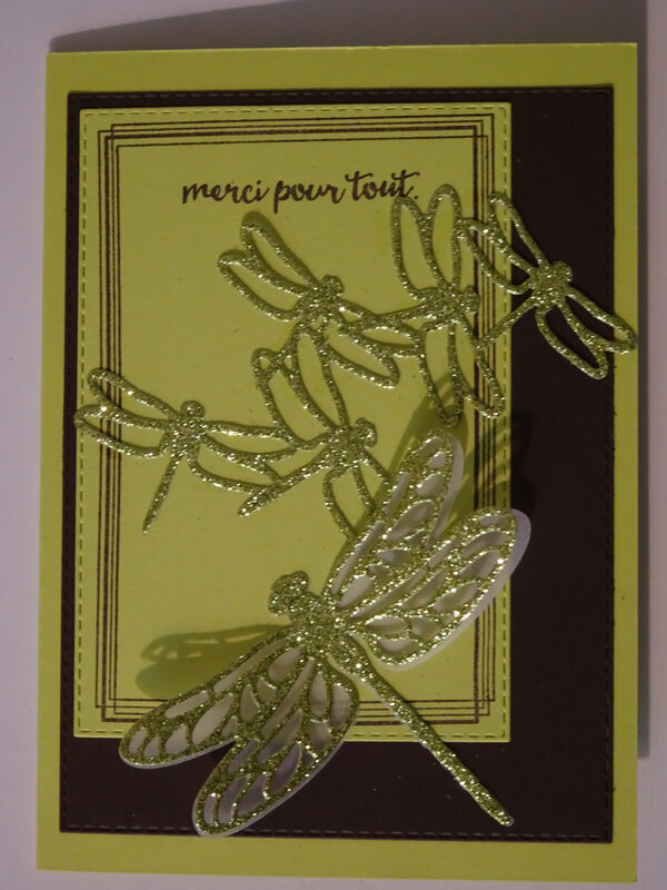 25b Carte Swirly frames et Rectangles couture