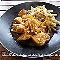 Poulet aux oignons dorés a l'aigre douce