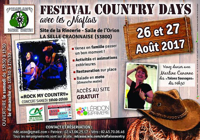 Festival Country Days à LA SELLE CRAONNAISE 26 ET 27 AOUT 2017