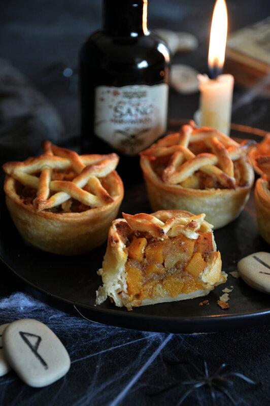 tartelettes vegan pentagramme halloween compote pomme potiron cannelle (1)