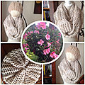 Snood point turc et mousse