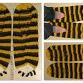 chaussons tigre géants