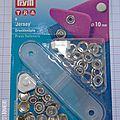 Bouton pression argent 10 mm