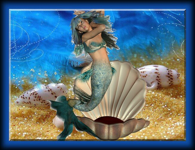 sirene ds coquille sur sable
