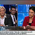 Marine le pen sur bfm-tv le 14/06/2015