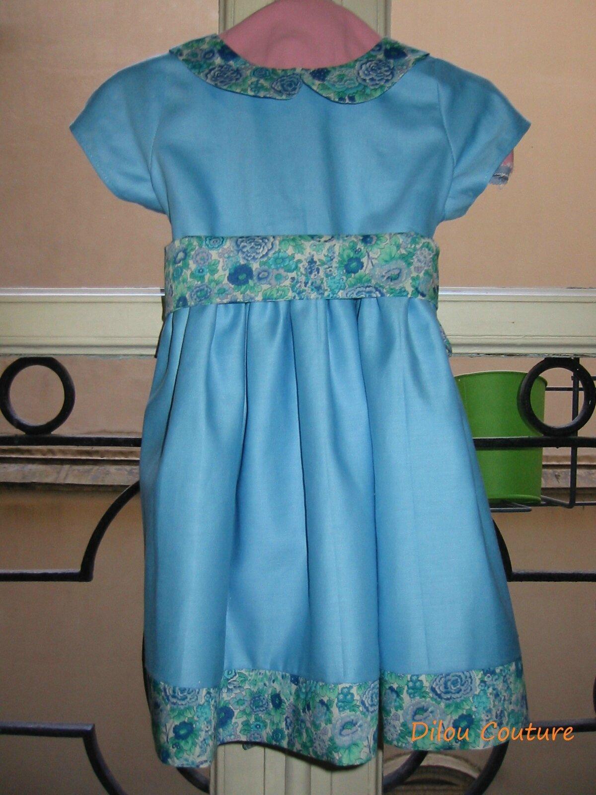 Robe photo cortège bleu - Liberty9