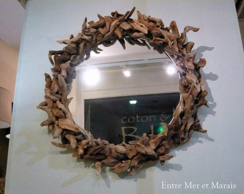 Miroir bois blotté 11