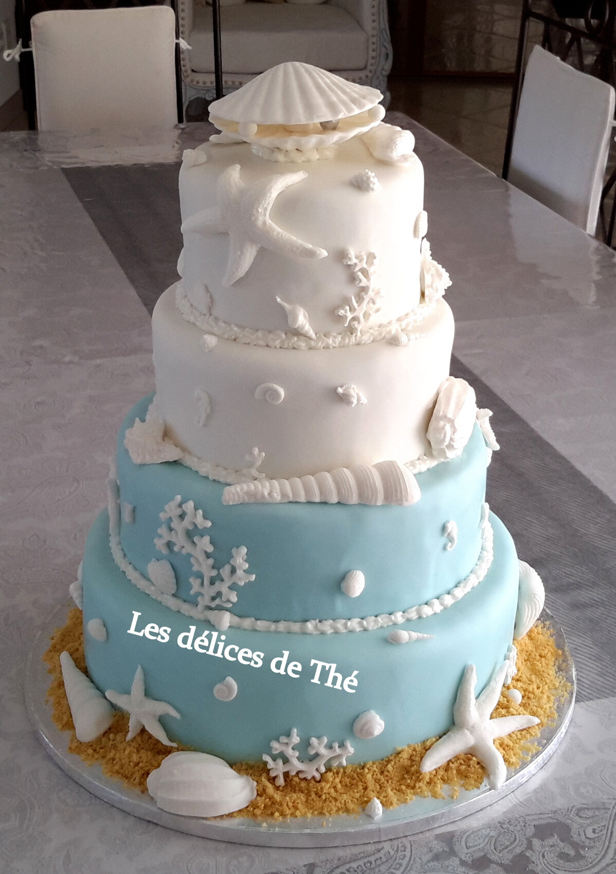 Wedding Cake Theme Coquillages Les Delices De The