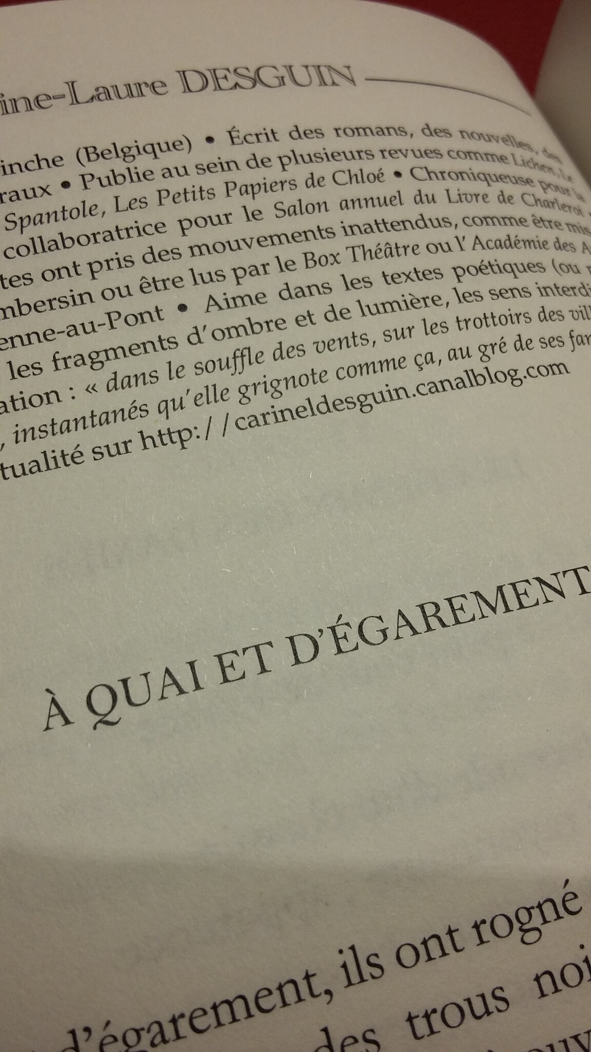 Un texte de C.-L. dans le volume 3 de l'Anthologie poétique de Flammes Vives