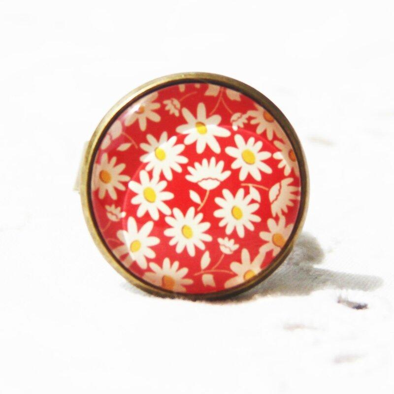 eve 45 bague cabochons fleurs rouges beiges bijoux colorés par louise indigo (1)