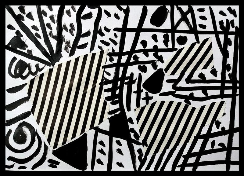 346-Compositions abstraites-Recyclage papiers cadeaux (42)