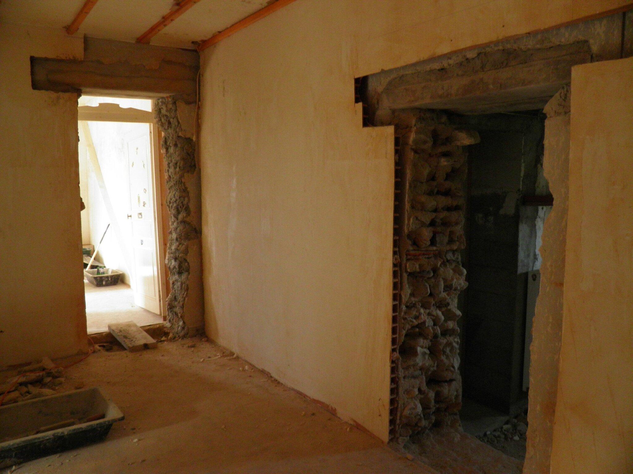 2eme ouverture dans mur porteur notre ferme d 39 artaix. Black Bedroom Furniture Sets. Home Design Ideas
