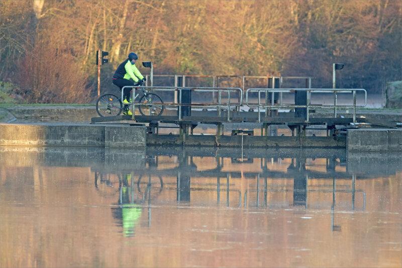 Ecluse vélo matin hiver 050120
