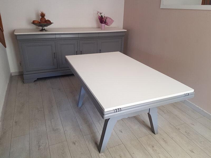 Enfilade et Table relookée Mme FLOQUET