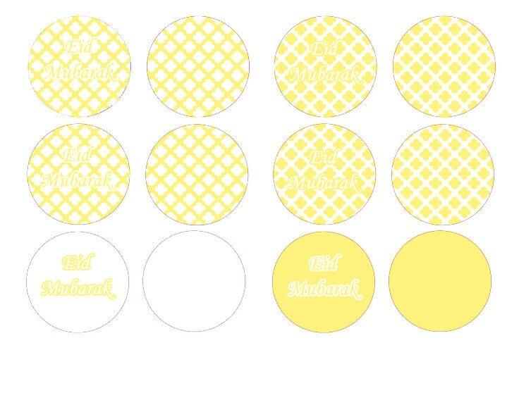 cupcake toppers jaune