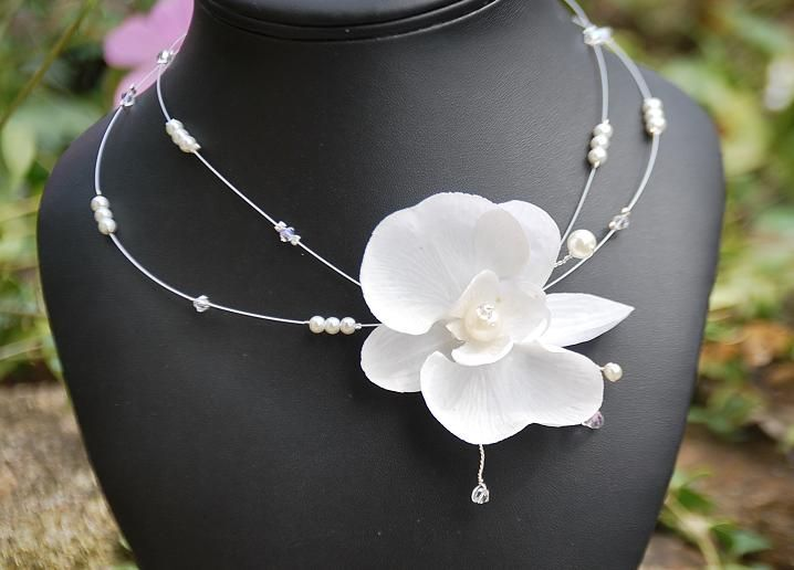 collier orchidée proposition pour Adeline
