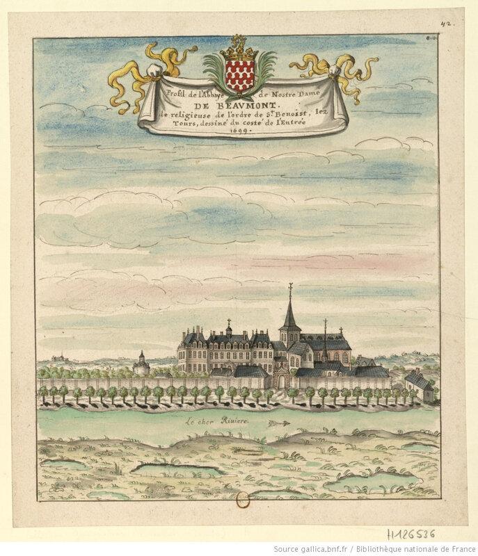Profil_de_l'Abbaye_de_Nostre_[