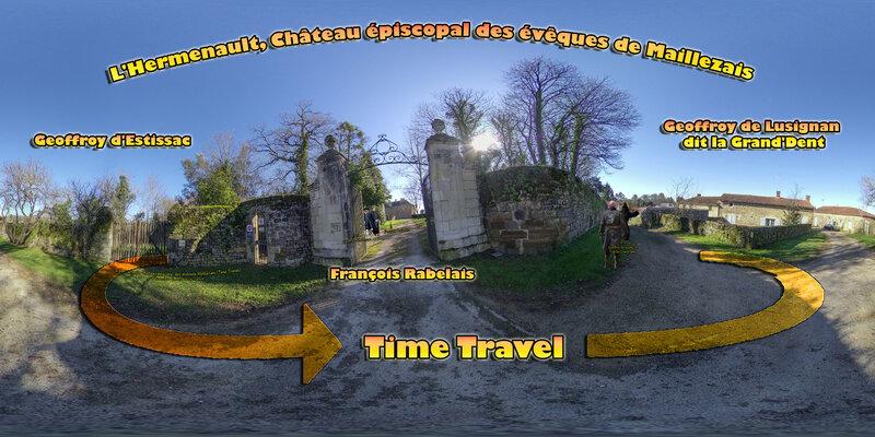 L'Hermenauld, Château épiscopal des évêques Maillezais Time Travel - Geoffroy de Lusignan - Geoffroy d'Estissac - François Rabelais