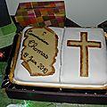 gâteau de communion au chocolat