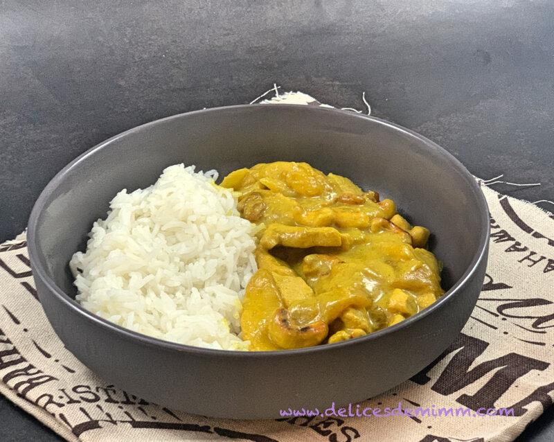 Aiguillettes de poulet au curry, à la mangue et aux noix de cajou 2