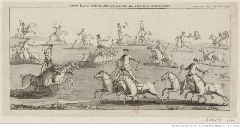 Jacob Bates piqueur anglois, faisant ses exercices publiquement